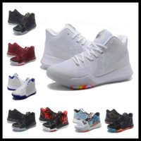 Wholesale Pure Leather Shoes For Men - New Kyrie 3 Iridescent Pure Platinum kids men women for sale Kyrie Irving Top Quality Basketball shoes us5-us12