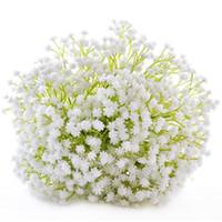 staffelungsstrauß großhandel-Großhandel 2018 trocken Gypsophila Blume Bouquet natürliche getrocknete Blume Baby Atem Blume Himmel Sterne Bush Bouquet