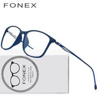068db4cafe9 TR90 Titanium Optical Glasses Frame Men 2018 New Full Square Myopia Eye  Glass Prescription Eyeglasses Korean Screwless Eyewear 9854