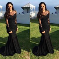 arabische freie kleider großhandel-Schwarze Abschlussball-Kleider geben Verschiffen 2019 reizvolle arabische Kristallperlen-Nixe-lange Hülsen vestidos de Fiesta formale Abend-Kleider frei