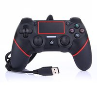 neue playstation controller großhandel-Neue PS4 USB-Controller Gamepads für PS4 Game Controller Vibration Wired Joystick für PlayStation 4 Konsolenspieler keine Wireless Wired
