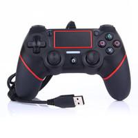 ingrosso compressa moq-Nuovo USB PS4 Wired Controller Gamepad per PS4 gioco Vibration Controller Wired Joystick per PlayStation 4 Console giocatori non Wireless