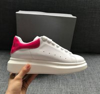 Wholesale daily dress - Fushia Trim Luxury Designer Comfort Casual Leather Shoes Men All Leather Sport Sneaker Personality Trainer Dress Party Shoe Daily Runner