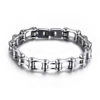 Wholesale motorcycle christmas gifts - Men's Fashion Classic Design Punk Jewelry Stainless Steel Bracelet Special Biker Bicycle Motorcycle Chain For Mens Bracelets Bangles Pulsera