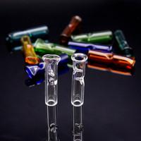 sigara filtresi boruları toptan satış-2019 sigara filtresi tüp cam filtre ucu tutucu cam RAW Kuru Ot Haddeleme Kağıt için tek kullanımlık Kalın Pyrex Cam Sigara Borular