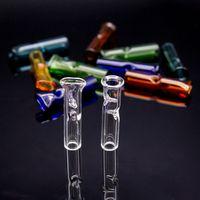 filtro de humo de cigarrillo al por mayor-2019 tubo de filtro de cigarrillos tubo de filtro de vidrio portapuntas de vidrio desechable para RAW Dry Herb Rolling Paper Thick Pyrex Glass Smoking Pipes