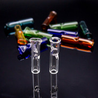 filter zigarettenrauch großhandel-2019 zigarettenfilter glas filter spitzenhalter glas einweg für RAW Dry Herb Rolling Paper Dickes Pyrexglas Pfeifen