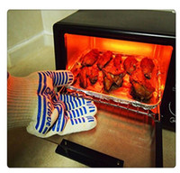 guantes de superficie caliente al por mayor-2018 New Hot Ove Gloves Horno Manejador de superficie caliente BBQ Hold Guantes individuales para cocina Microondas Envío gratis