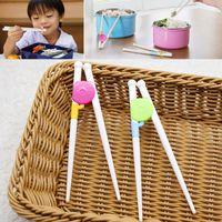 ingrosso apprendimento bacchette-Bacchette bambino addestramento bacchette cibo-grade plastica bambino esercizio formazione bacchette bambini fumetto apprendimento bacchetta WX9-642