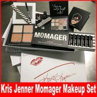 ingrosso regali gratuiti per le madri-Nuovo set Kris Jenner MOMAGER set di trucco MOMAGER Set labbra Lipgloss Set di rossetti Eyeshadow highlighters Regalo di giorno della mamma DHL gratis