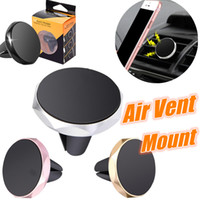 Wholesale safe car for sale - Group buy Aluminium Alloy Car Mount Phone Holders Magnetic Air Vent Mount Handfree Dashboard Holder For iPhone s Car GPS Safe Driving