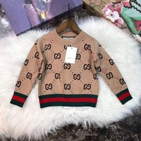 Hot selling 2d79 2018ins Autumn And Winter Sweater Pure Cotton Round Neck Sweater Children kids knitted clothes