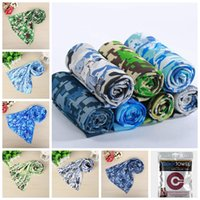 Wholesale towel material for sale - Group buy 90 cm Camouflage Cool Cooling Towel Camping Hiking Gym Exercise outdoor Cold Towel Ice Fabric Material Cool Towel GGA357
