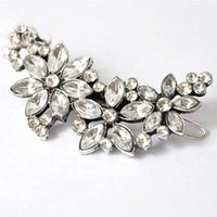 Wholesale mexican headbands resale online - 10pcs New Arrival Women Wedding Retro Crystal Rhinestone Flower Headband Hairpins Hair Clip Hot Cheap