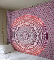 Wholesale large tapestry resale online - Large Mandala Indian Tapestry Wall Hanging Bohemian Beach Towel Polyester Thin Shawl Yoga Mat x150cm Blanket