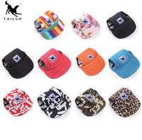 chapéus de beisebol multi cor venda por atacado-21018 Pet fornecimentos roupas para cães acessórios chapéu de pala de beisebol pala língua multi-cor chapéu viseira do cão frete grátis