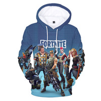 game hoodies 2018 - Wholesale Popular Fortnite Game Printed Hoodies with 3D Digital Stamp Guard Print Fortnite Games Hooded Sweater Loose Hoodie Size XXS-4XL