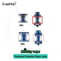 Wholesale Glass Tube Fittings - Freemax Fireluke Glass Tube Replacement 3ml 4ml 5ml Capacity Fit Fireluke Tank Fireluke Mesh Tank 100% Original