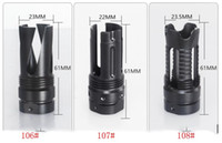Wholesale nut stainless steel - compact stainless steel flash hider Muzzle Brake with Jam Nut
