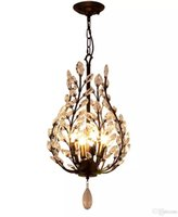 lustres en cristal traditionnels achat en gros de-Lustre 4 lumières Ambient Light - Style Mini en Cristal, Rustique / Lodge Vintage Lantern Country Traditionnel / Classique Rétro Moderne / Contemporain