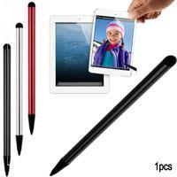tabletler için yeni ekranlar toptan satış-Yüksek Kaliteli Kapasitif Kalem Dokunmatik Ekran Stylus Kalem Tablet iPad Cep Telefonu Samsung PC için ücretsiz kargo yüksek kalite 2018 yeni sıcak hediye