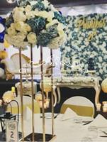 vasos para decorações de mesa venda por atacado-decoração de mesa de casamento centerpieces favores do partido colunas de casamento decorativo vaso de flores vaso de casamento decoração de aniversário