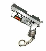 Wholesale axe pendants for sale - Group buy 12 style Weapon handgun cm Guns Keychain Hammer Axe Weapon Model Night Pendant Pickaxe Hoe
