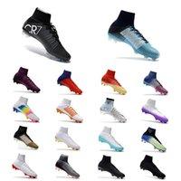 ag ayakkabıları toptan satış-Yeni En Kaliteli 2018 CR7 Futbol Çizmeler Mercurial Superfly V AG / FG Futbol Ayakkabıları Erkek Açık Futbol Cleats