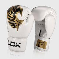 db2c502cc Crianças adultas brancas combate livre treinamento profissional luvas de  boxe couro