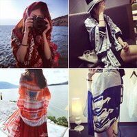 Wholesale Dual Scarf - 35 Color Sunscreen Sunscreen Oversized Scarves Female 2018 Hot Resort Scarves Beach Towels Scarves Dual-Use Shawl