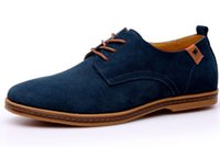 Wholesale fashionable classic pu leather for sale - 2018 Men s casual genuine leather suede boots leisure low footwear suede fashionable shoes repopular classic revo suded shoes zyx01