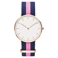 Wholesale watch couple rose gold - Women Men Watch Quartz Luxury Brand Lovers' Fashion Wristwatches rose gold nylon Couple Quartz Watch Relogio Feminino Montre Femme