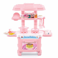 Wholesale Girls Play Kitchen - Multifunctional Children Play Toy Girl Baby Toy Large Kitchen Cooking Simulation Table Model Utensils Toys Hot Selling