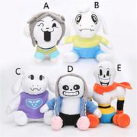 Wholesale undertale plush sans online - EMS Style kids Undertale Sans Papyrus Toriel Asriel Temmie Plush Toys Dolls Stuffed Toys cm CM baby toy gift B