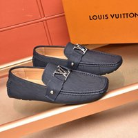Wholesale mens leather driving slippers for sale - Group buy 2018 fall high quality mens Multicolor Genuine Leather luxury buckle Loafers Medusa Driving slippers driver shoes Plus Size EUR38