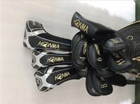 Wholesale regular flex graphite driver shafts - 4 Star Honma S-05 Full Set Honma Golf Clubs Driver + Fairway Woods + Irons + Putter Regular Stiff SR Flex Graphite Shaft With Head Cover