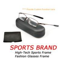 Wholesale ultralight glasses frames - OK5046 Ultralight Metal Frame Optical Glasses Sunglasses Fashion Mens Sports Designer Eyeglasses With Box   Provide Custom Function Lens