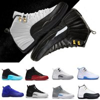Wholesale mens suede summer breathable shoe for sale - 2018 new mens basketball shoes white Red Suede Deep Royal Blue rising sun flu game wolf grey TAXI playoff sneakers