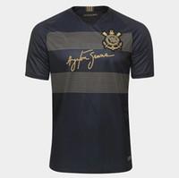 jerseys nombres al por mayor-^ _ ^ Venta al por mayor 18/19 camisetas de fútbol corintias TIMAO hogar lejos tercera calidad AAA nombre personalizado número jo camisetas de fútbol