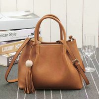 Wholesale Cheap Cost - Good and Cheap Women Leather Totes soft real leather 3 layers pockets outside casual handy shoulder bags cost prices sale