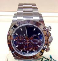 weiße saphire großhandel-Mens Luxus Top Qualität 116509 Weißgold Blaues Zifferblatt Datum Saphir automatische mechanische Herrenuhr Uhren ohne Chronograph 316L Edelstahl