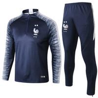 costume martial achat en gros de-18 19 deux étoiles veste de survêtement frances Survêtement survêtement de football MBAPPE survêtement de football