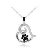 Wholesale personalized pet jewelry - Always In My Heart Necklace Hand Stamped Initial Memorial Jewelry Pet Memorial with Paw Necklace Personalized Dog Lover Gift Pet Loss Gifts