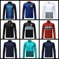 Wholesale France Soccer Jacket - 2018 2019 world cup Spain Soccer jacket TRAINING SUIT 2018 Belgium Argentina football jacket kit France Netherlands Russia jacket