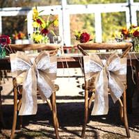 ingrosso la sedia di nozze piega diy-Telaio in pizzo tela Set Christma Runner Chair Sash tavolo telai archi decorazione del partito per centrotavola matrimonio rustico e artigianato fai da te 0245