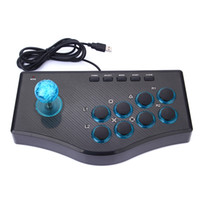 Wholesale free shipping arcade joystick resale online - USB Rocker Game Controller Arcade Joystick Gamepad Fighting Stick For PS3 PC Android Plug And Play Street Fighting Feeling