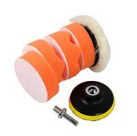 Wholesale polisher kit pads online - Polishing Sponge Pad Drill Adapter Kit Car Auto Polisher Buffer Kit Drill Adapter For Car Polisher HHA47