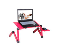 Wholesale computer vent - Homdox Computer Desk Portable Adjustable Foldable Laptop Notebook Lap PC Folding Desk Table Vented Stand Bed Tray