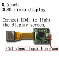 yüksek çözünürlüklü videolar toptan satış-Tam renkli OELD 0.5 inç Akıllı giyilebilir ekran yüksek çözünürlüklü Yüksek çözünürlüklü giriş Video gözlük ekran Gece görüş vizör ekran