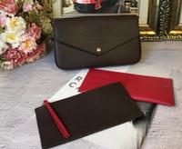 telefon omuz çantası cüzdanı toptan satış-Cep telefonu çanta cüzdan üç parçalı 2018 Yeni üç-bir-arada zinciri çanta tek omuz Messenger çanta ayrılabilir